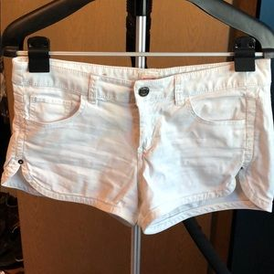 White shorts with side slit